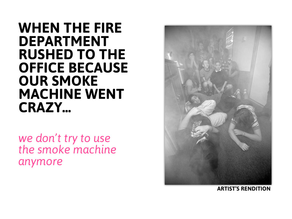 WHEN THE FIRE DEPARTMENT RUSHED TO THE OFFICE B...
