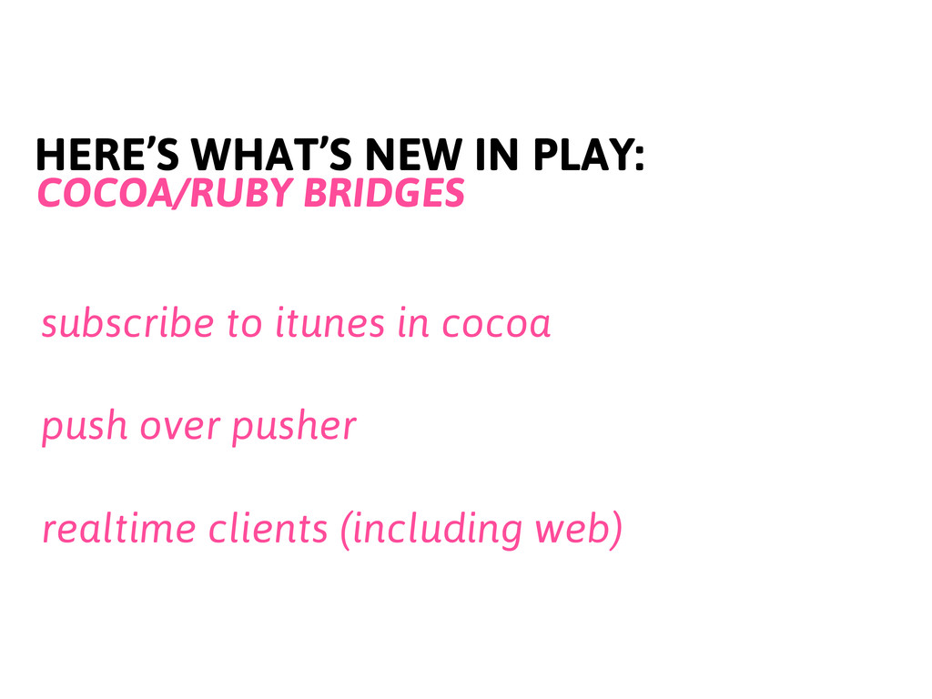 HERE'S WHAT'S NEW IN PLAY: COCOA/RUBY BRIDGES s...