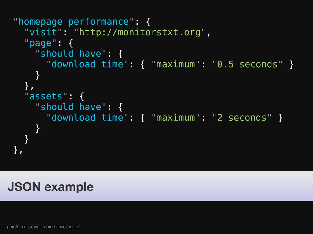 gareth rushgrove | morethanseven.net JSON examp...