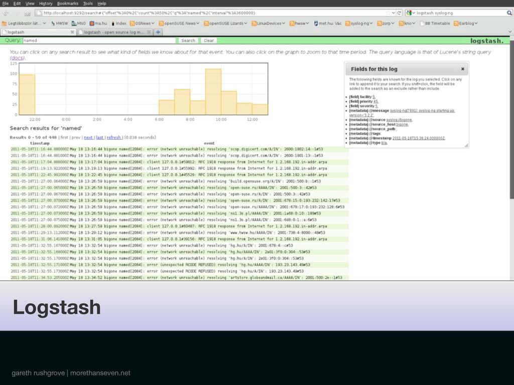 gareth rushgrove | morethanseven.net Logstash