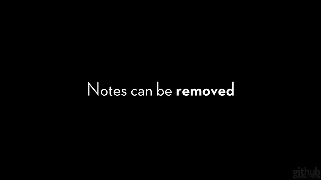 Notes can be removed