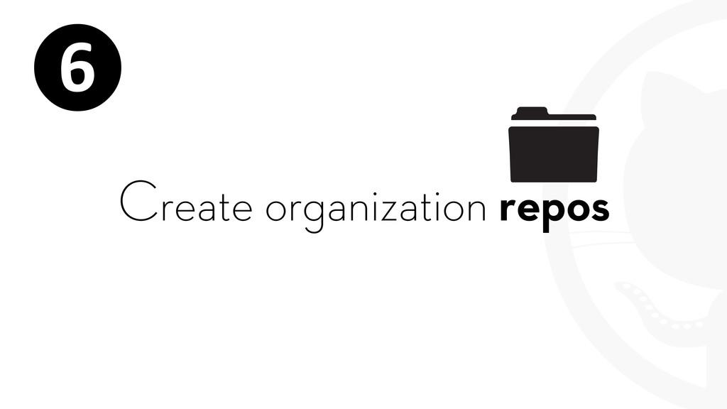 Create organization repos ❻