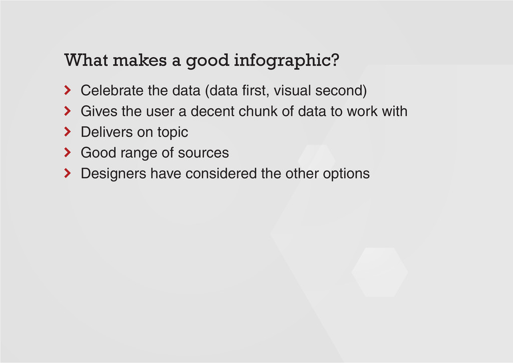 What makes a good infographic? Celebrate the da...