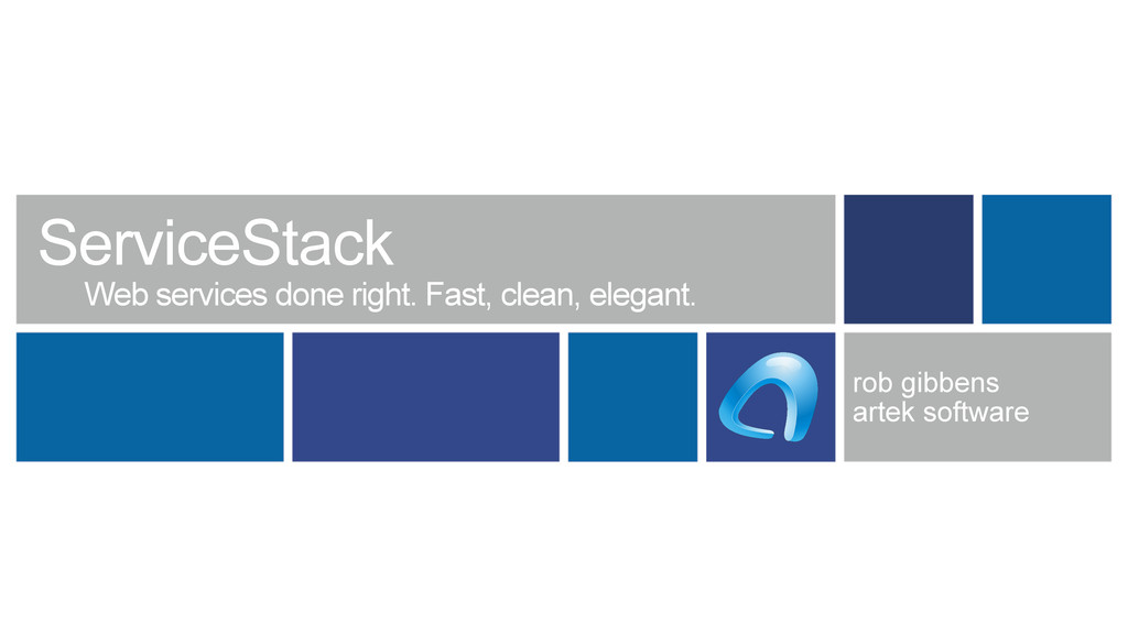 ServiceStack Web services done right. Fast, cle...