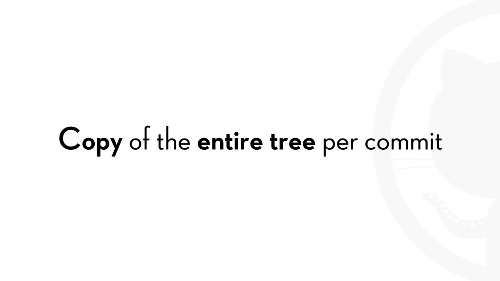 Copy of the entire tree per commit