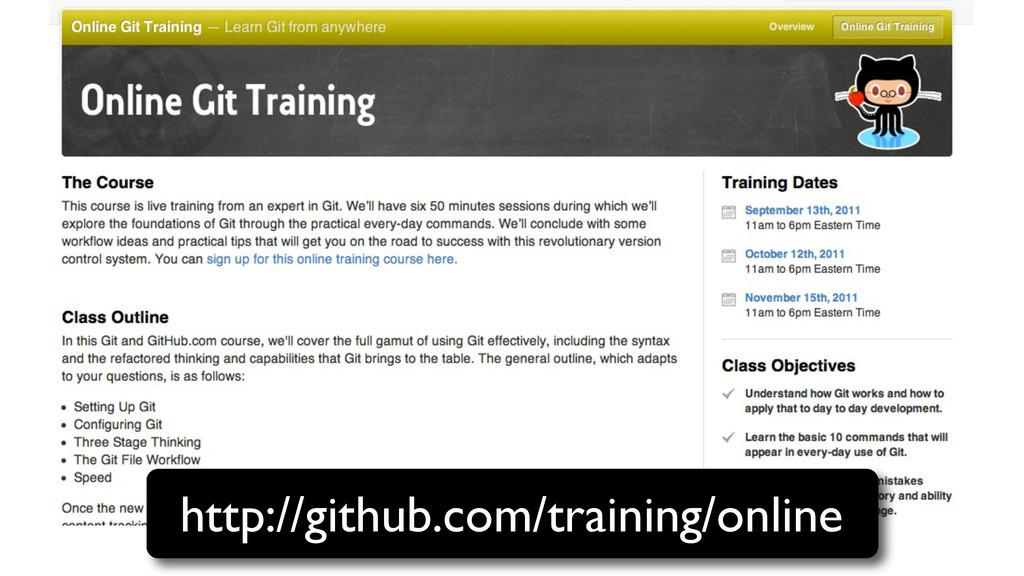 http://github.com/training/online