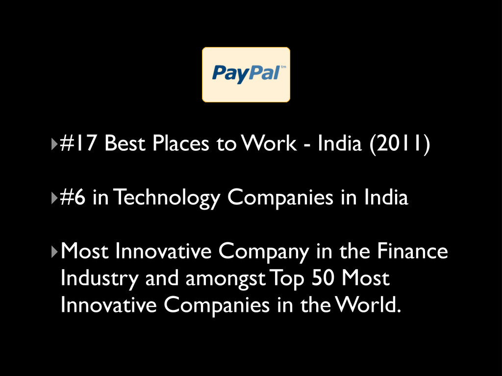 ‣#17 Best Places to Work - India (2011) ‣#6 in ...