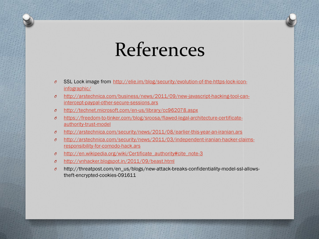References O SSL Lock image from http://elie.im...