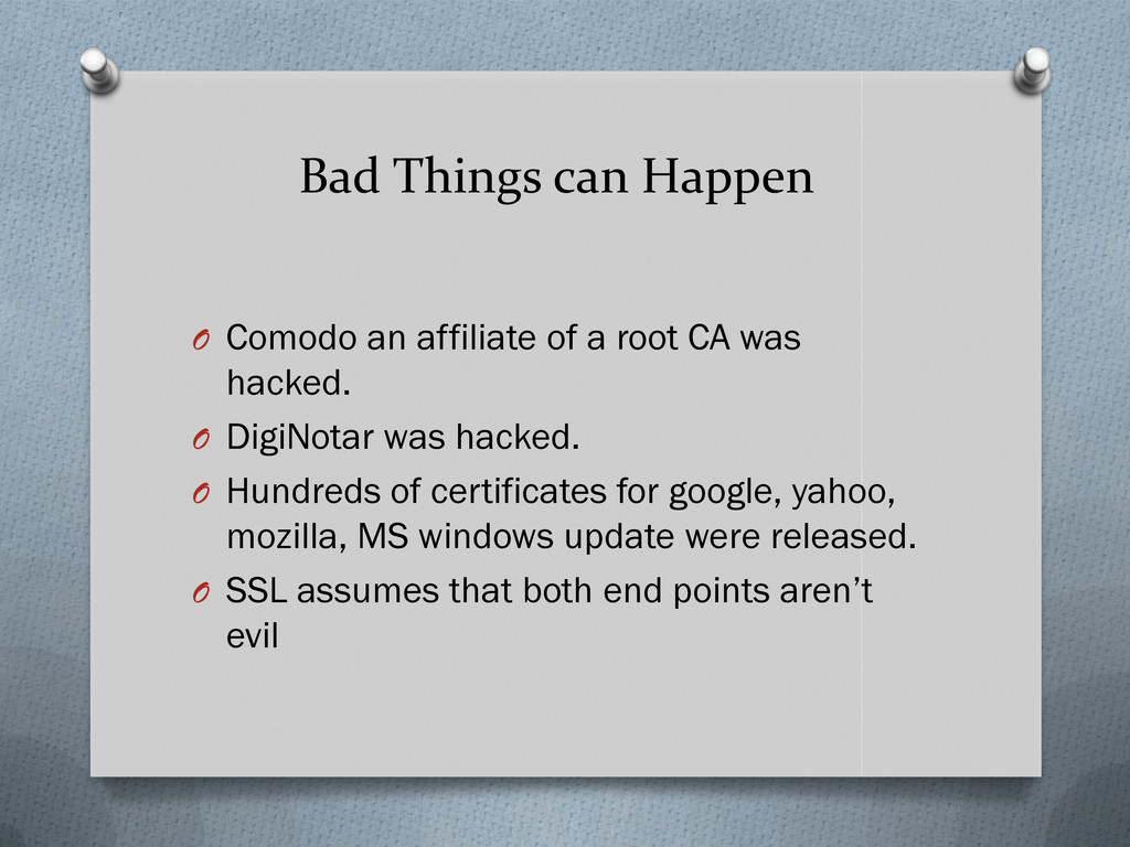 Bad Things can Happen O Comodo an affiliate of ...