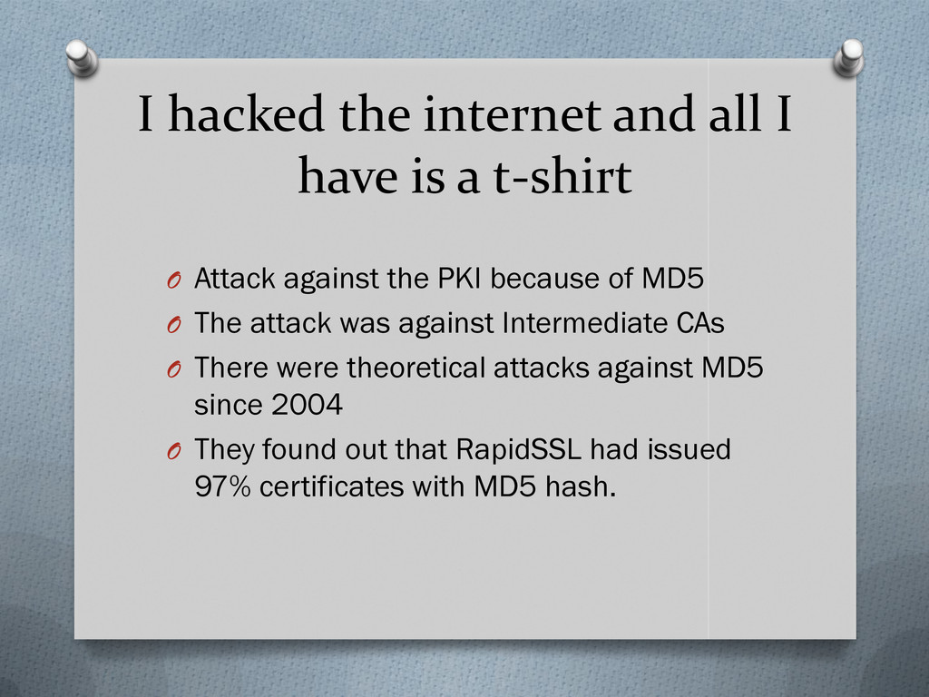 I hacked the internet and all I have is a t-shi...