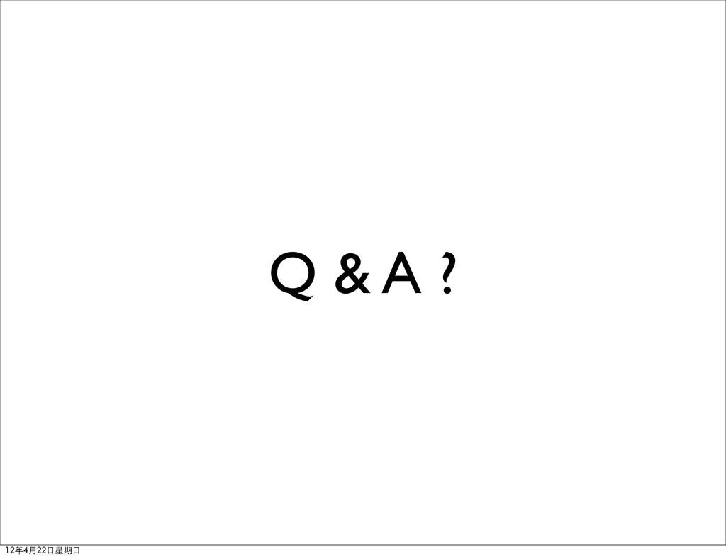 Q & A ? 12年4月22⽇日星期⽇日