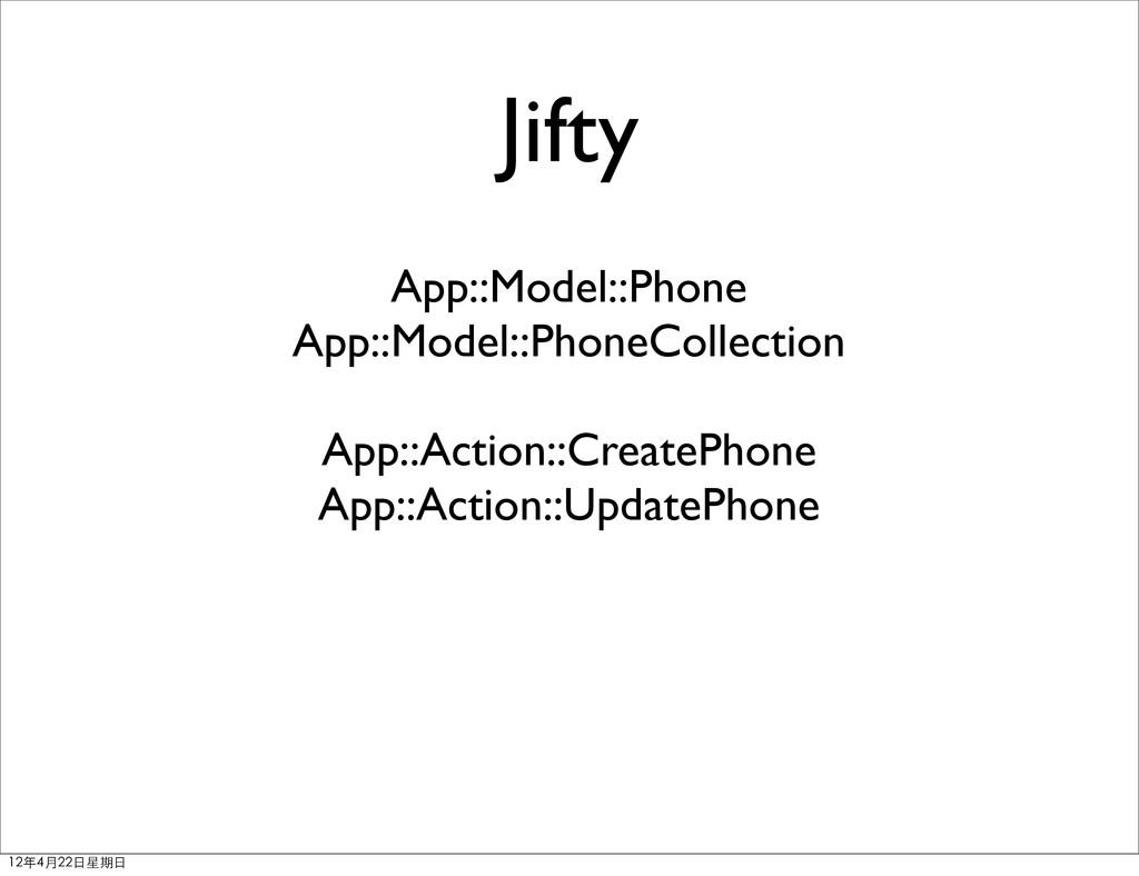 Jifty App::Model::Phone App::Model::PhoneCollec...