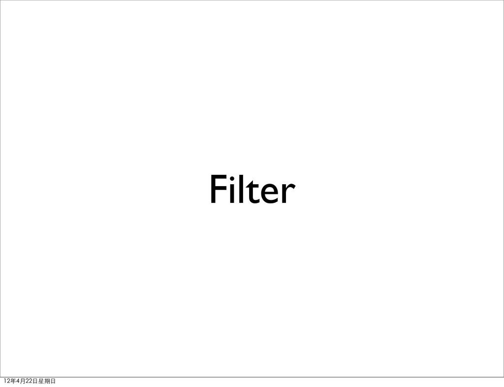 Filter 12年4月22⽇日星期⽇日