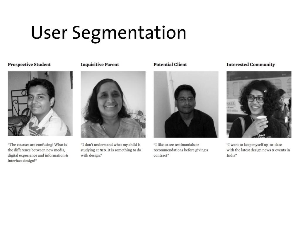 User Segmentation