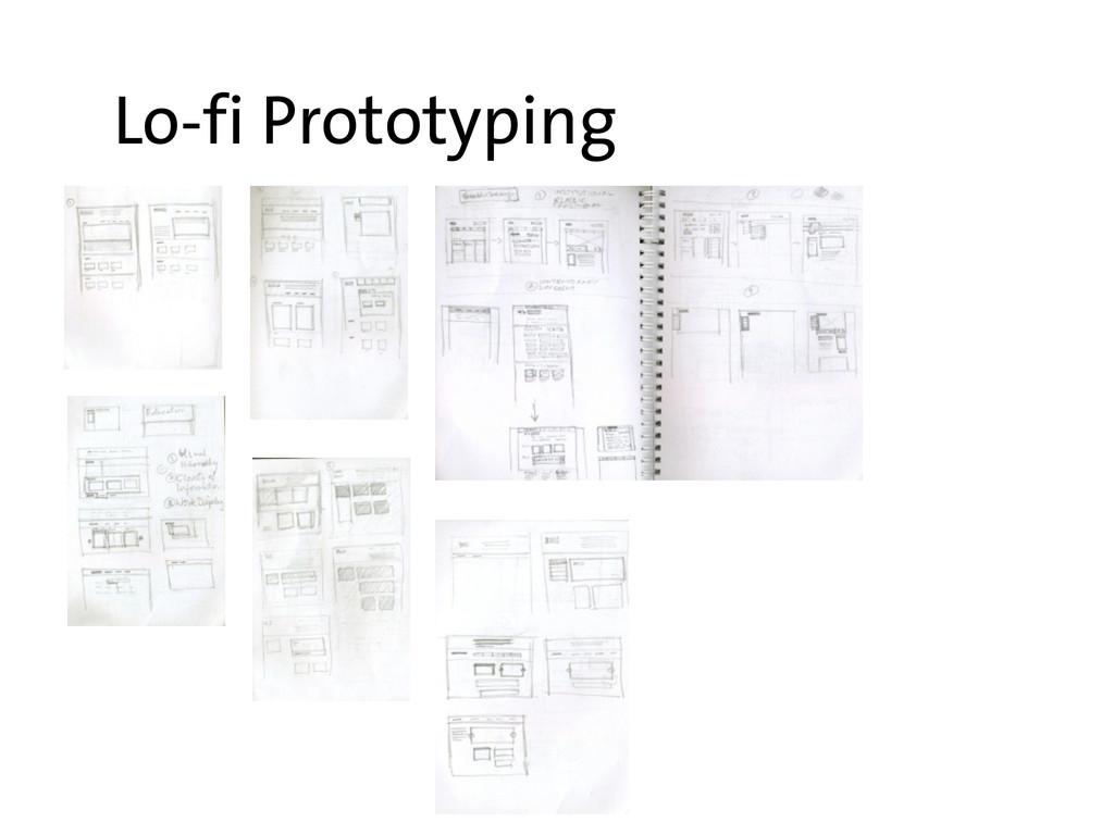 Lo-fi Prototyping