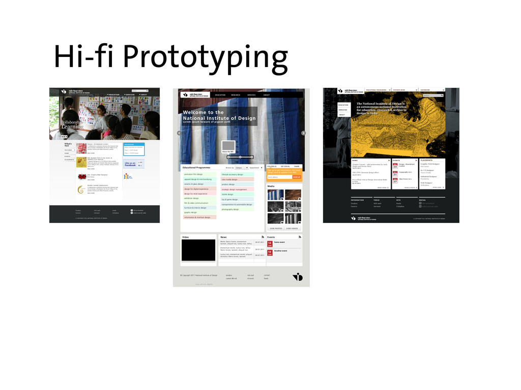 Hi-fi Prototyping EDUCATION SERVICES ABOUT RESE...