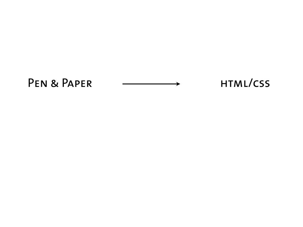 Pen & Paper html/css