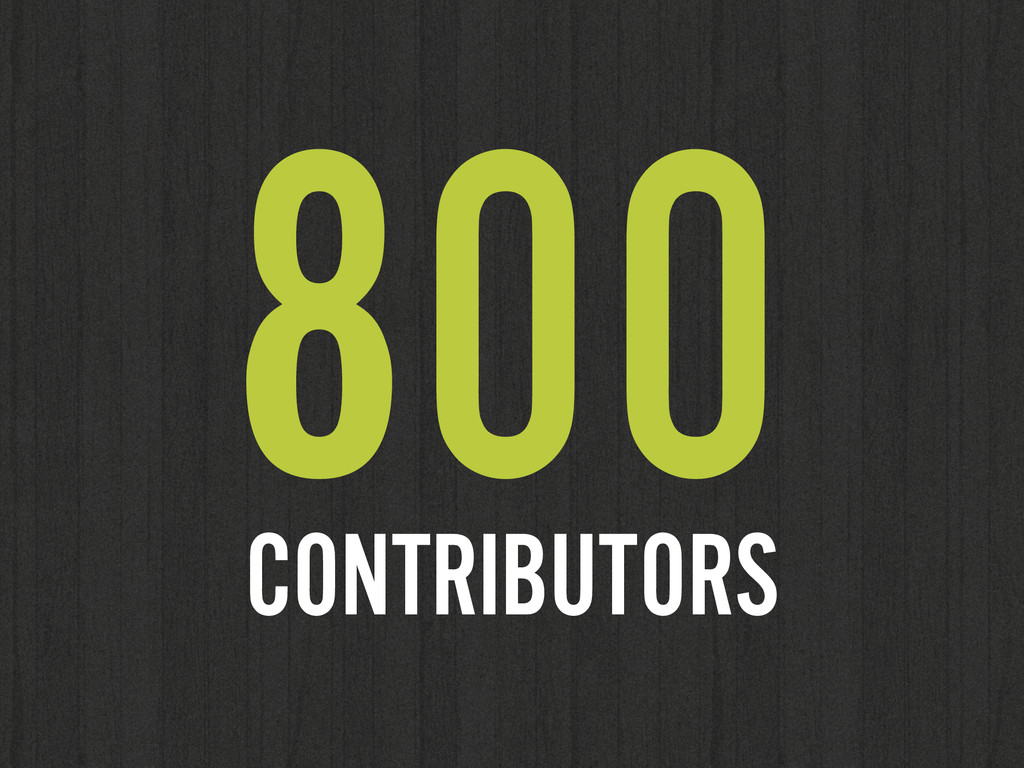 800 CONTRIBUTORS