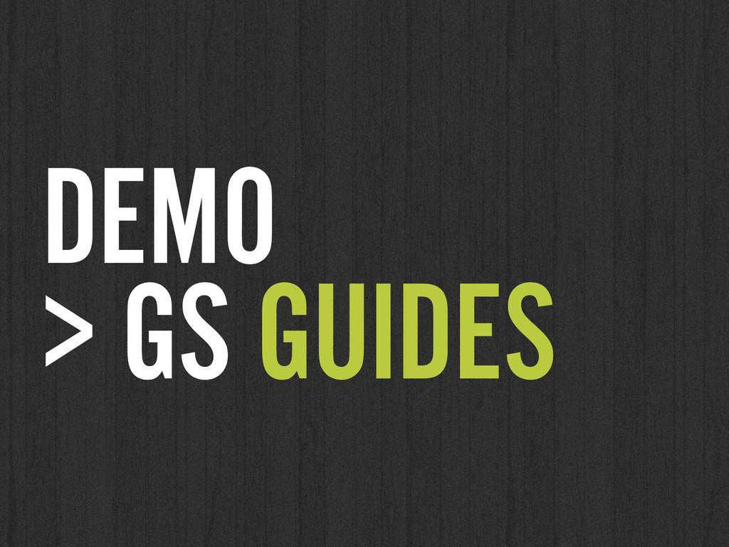 DEMO  > GS GUIDES