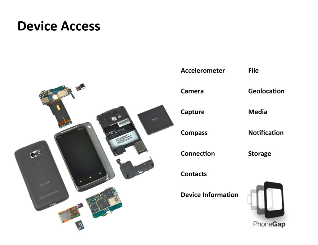 Device Access  Accelerometer    Camera   ...