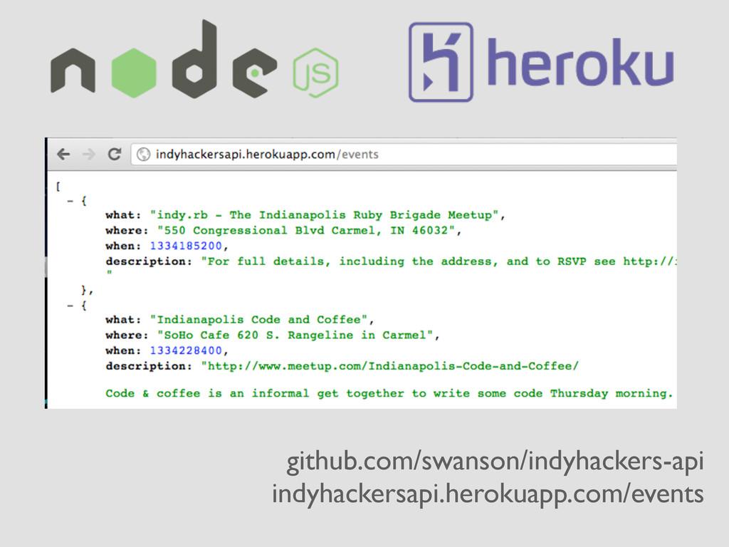 github.com/swanson/indyhackers-api indyhackersa...