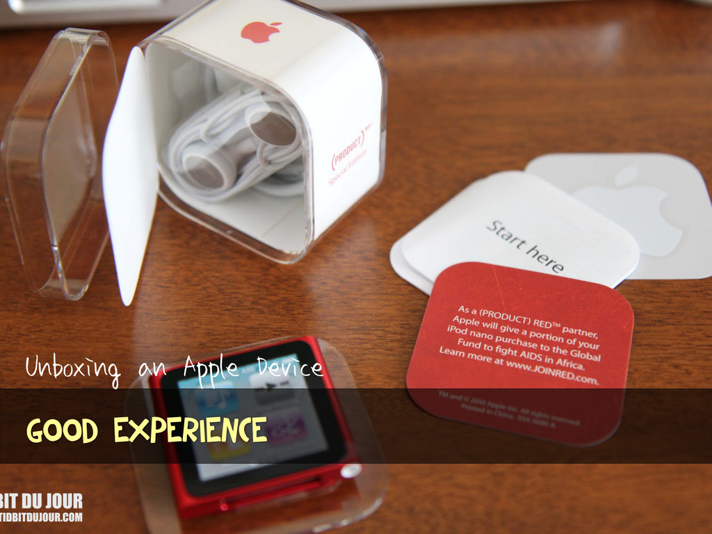 Unboxing an Apple Device