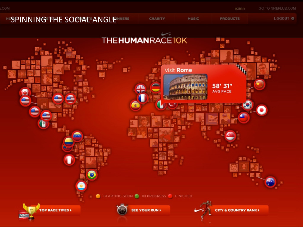 SPINNING THE SOCIAL ANGLE