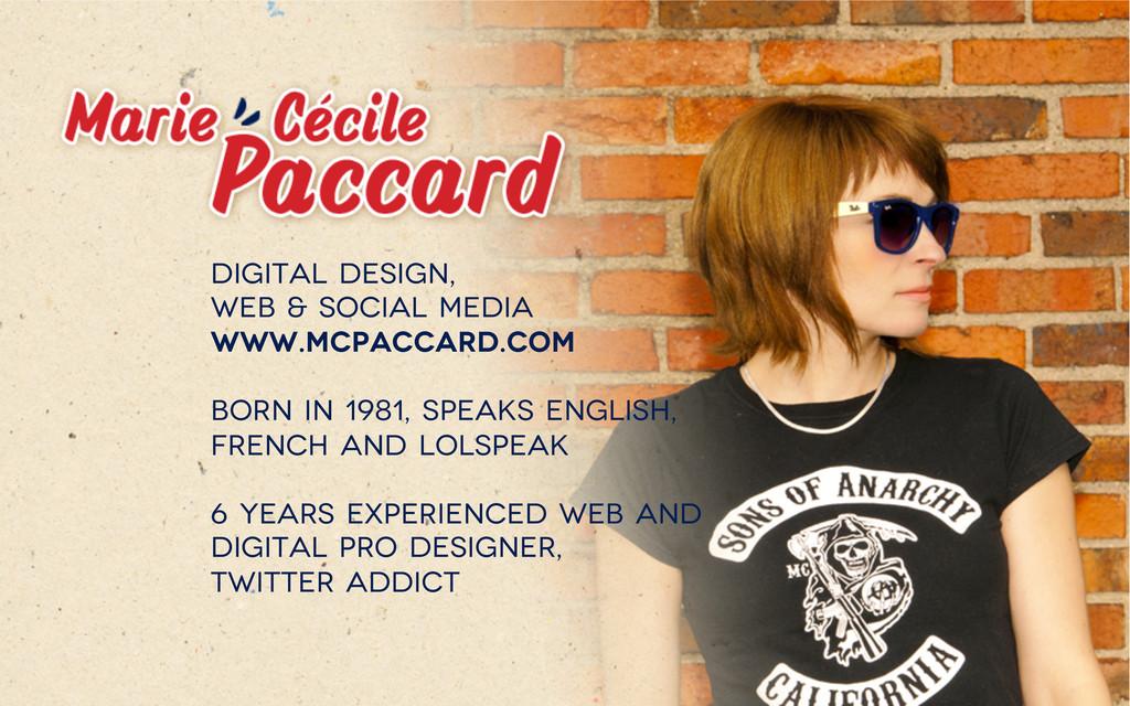 digital design, web & social media www.mcpaccar...