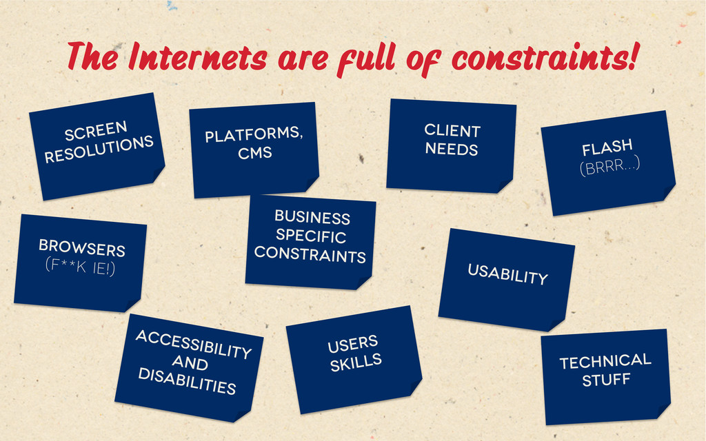 The Internets are full of constraints! Screen ...
