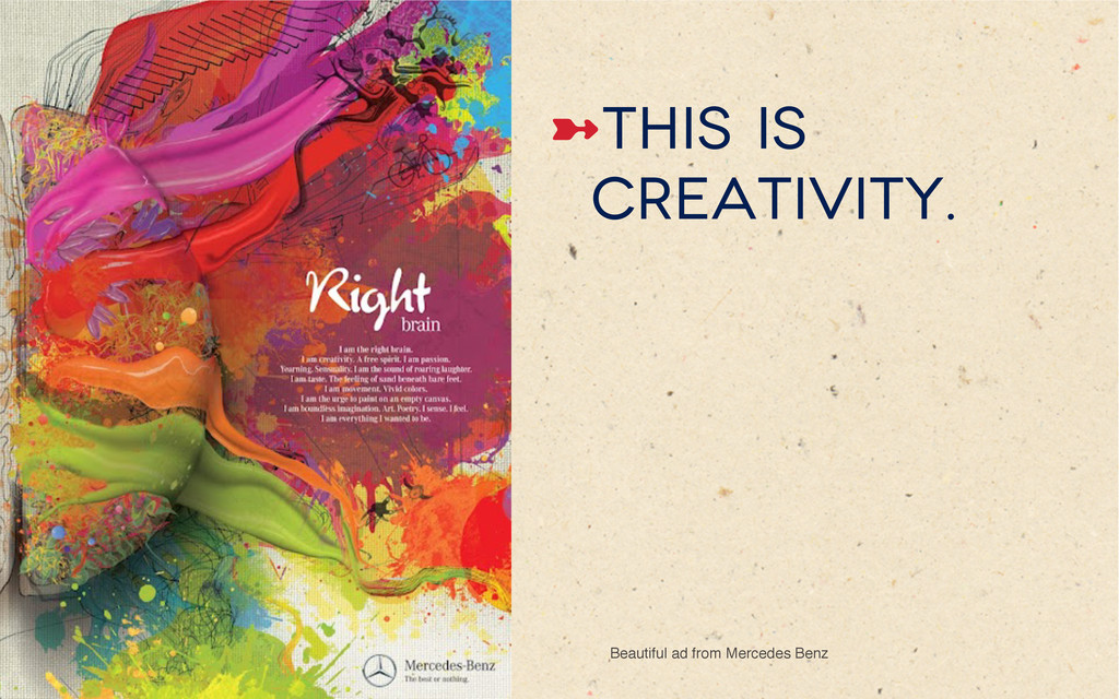 ➼This is creativity. Beautiful ad from Mercede...