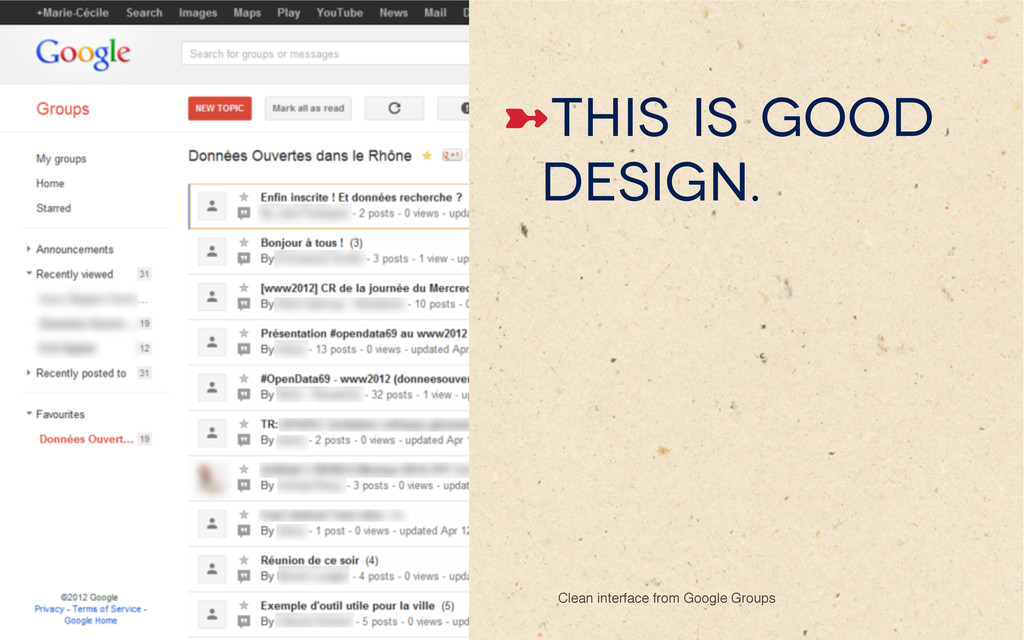 ➼This is good design. Clean interface from Goo...
