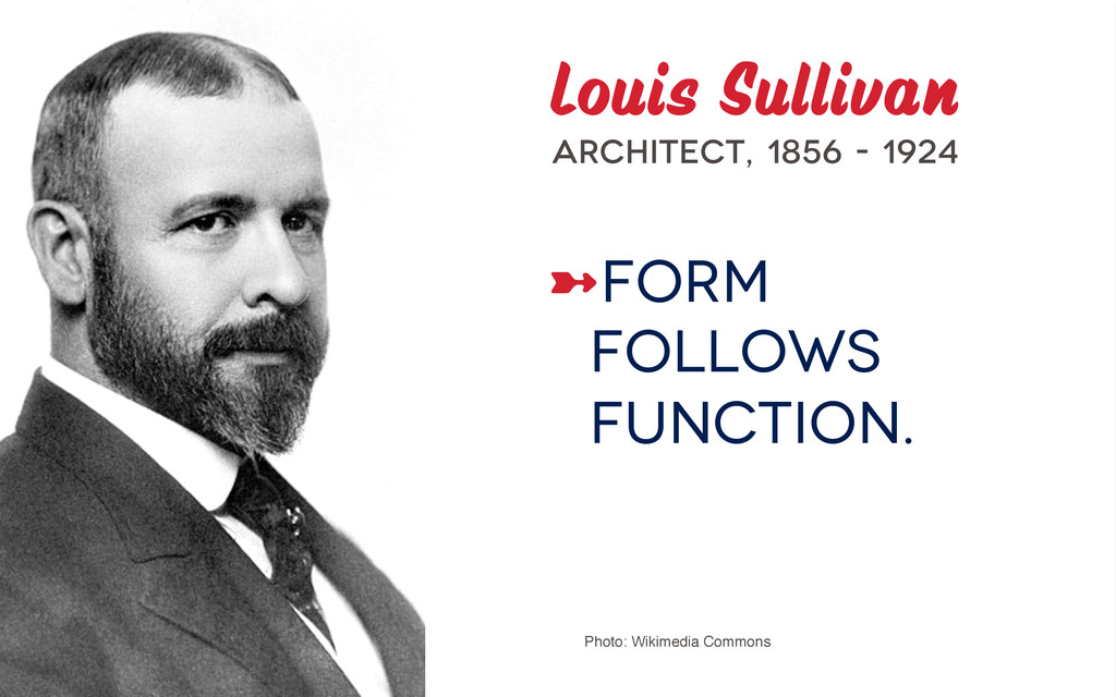 Louis Sullivan Architect, 1856 - 1924 ➼Form fo...