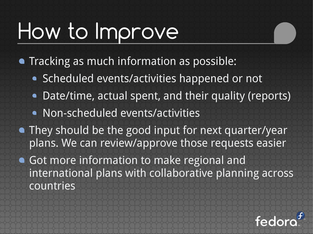 Tracking as much information as possible: Sched...