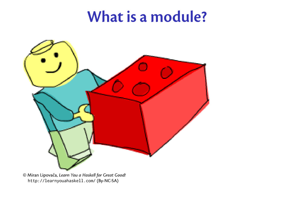 What is a module? © Miran Lipovača, Learn You a...