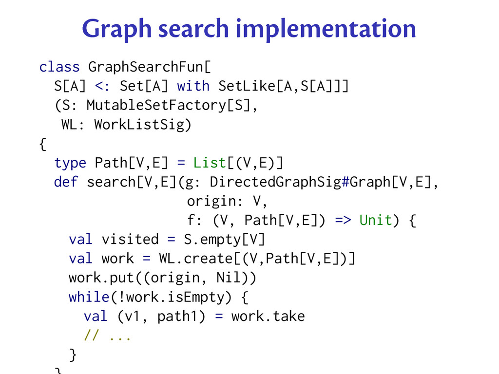 Graph search implementation class GraphSearchFu...