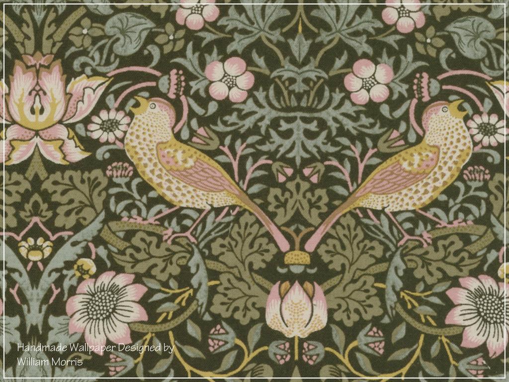 Handmade Wallpaper Designed by William Morris