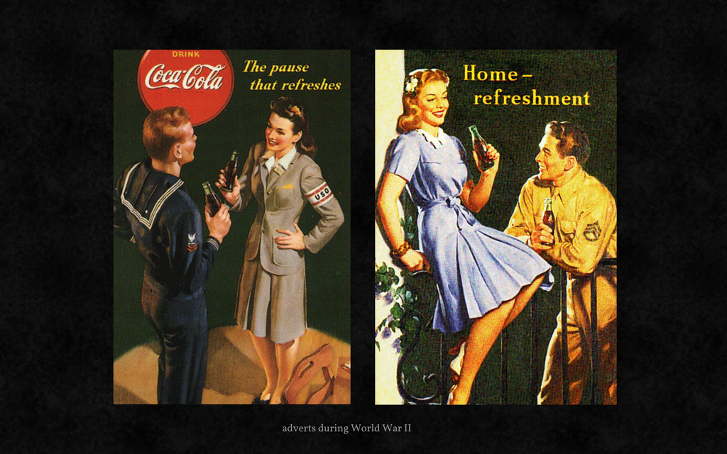 adverts during World War II