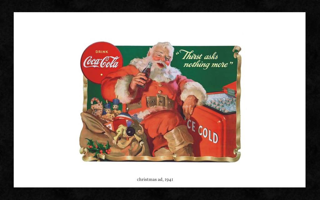 christmas ad, 1941