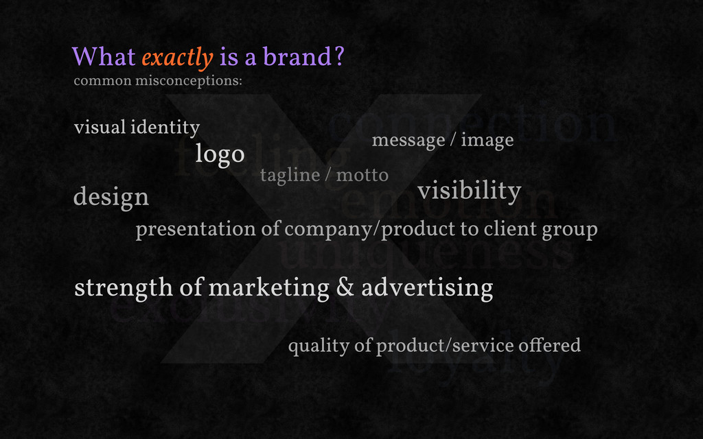 X What exactly is a brand? feeling emotion conn...