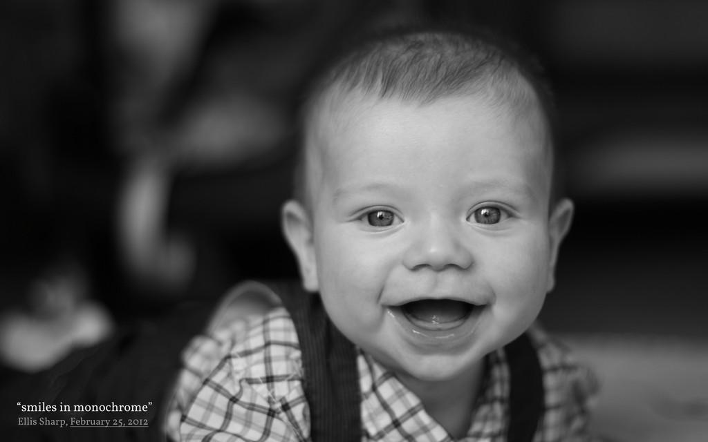 """""""smiles in monochrome"""" Ellis Sharp, February 25..."""