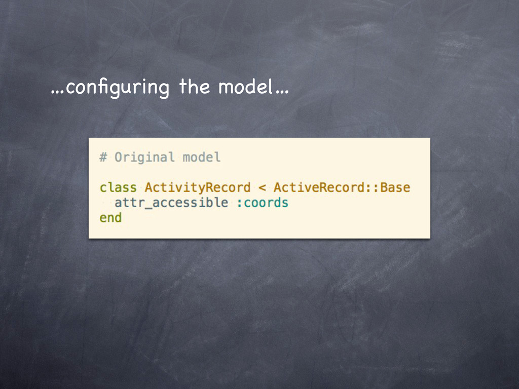 …configuring the model…