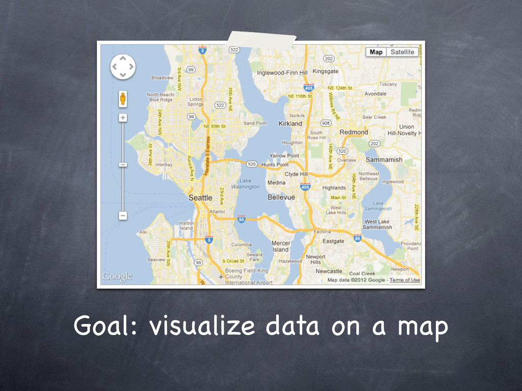 Goal: visualize data on a map