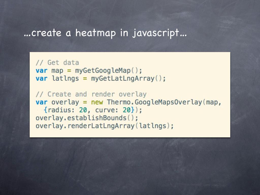 …create a heatmap in javascript…