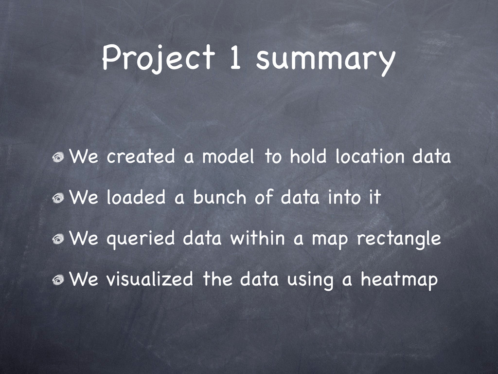 Project 1 summary We created a model to hold lo...