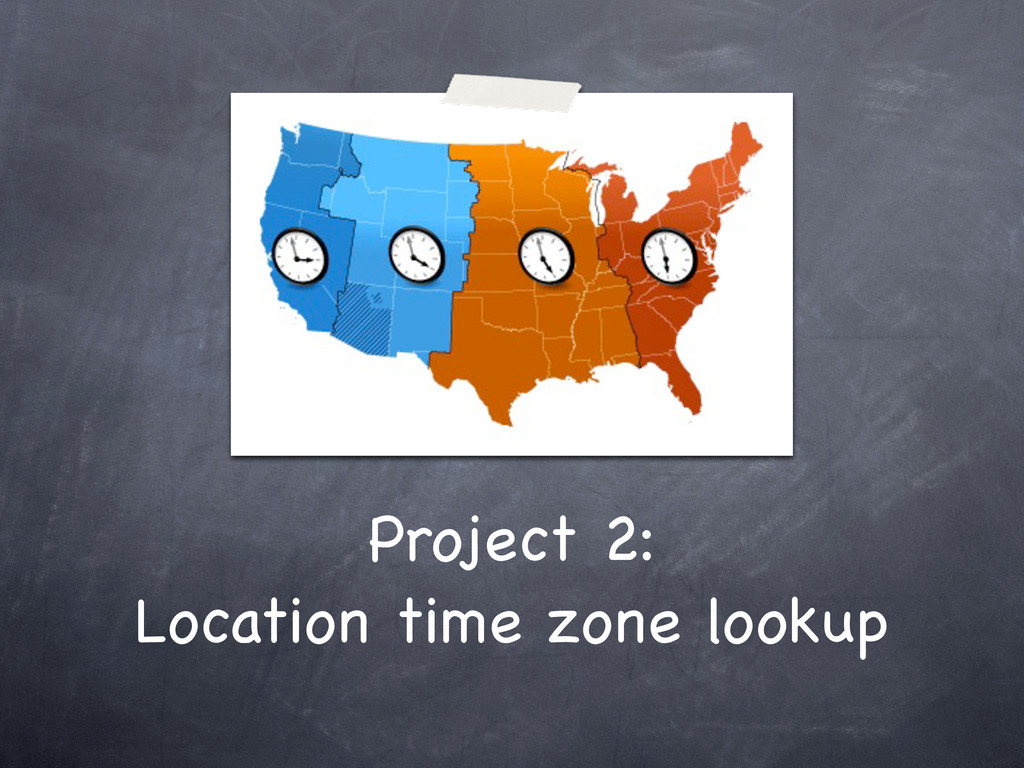 Project 2: Location time zone lookup