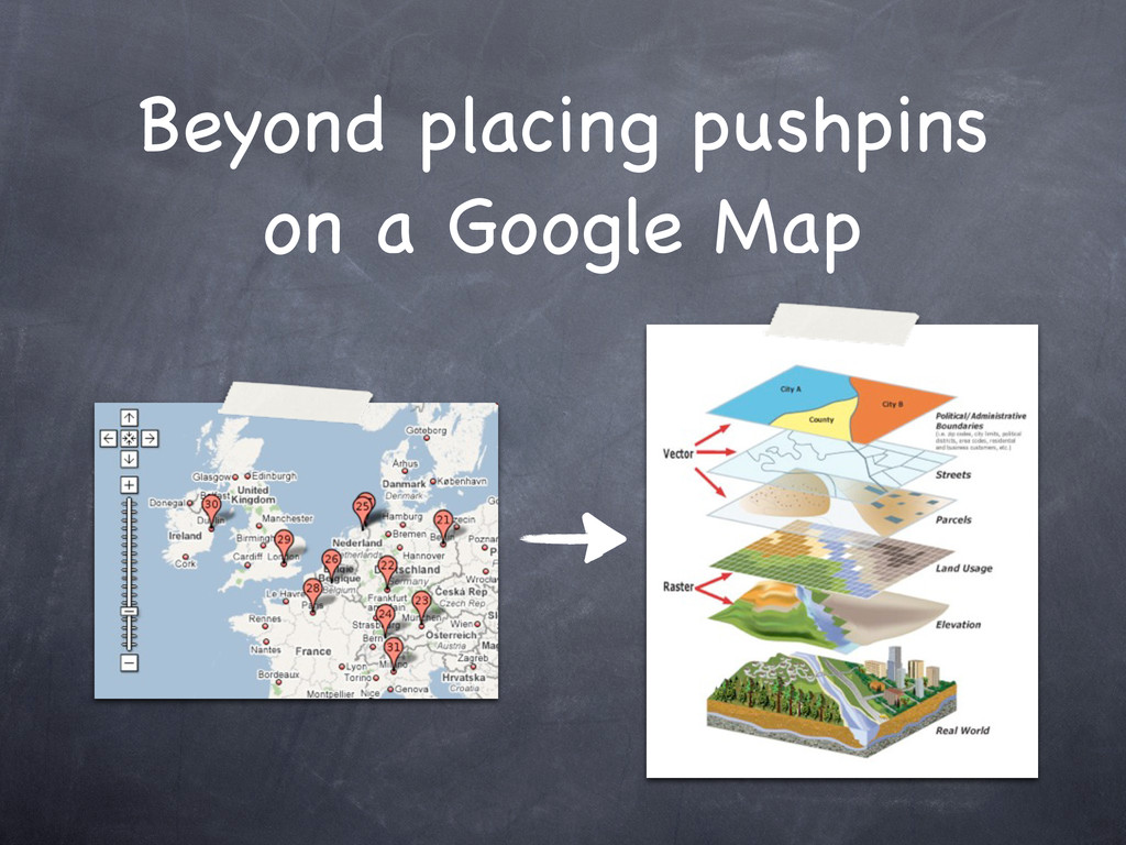 Beyond placing pushpins on a Google Map