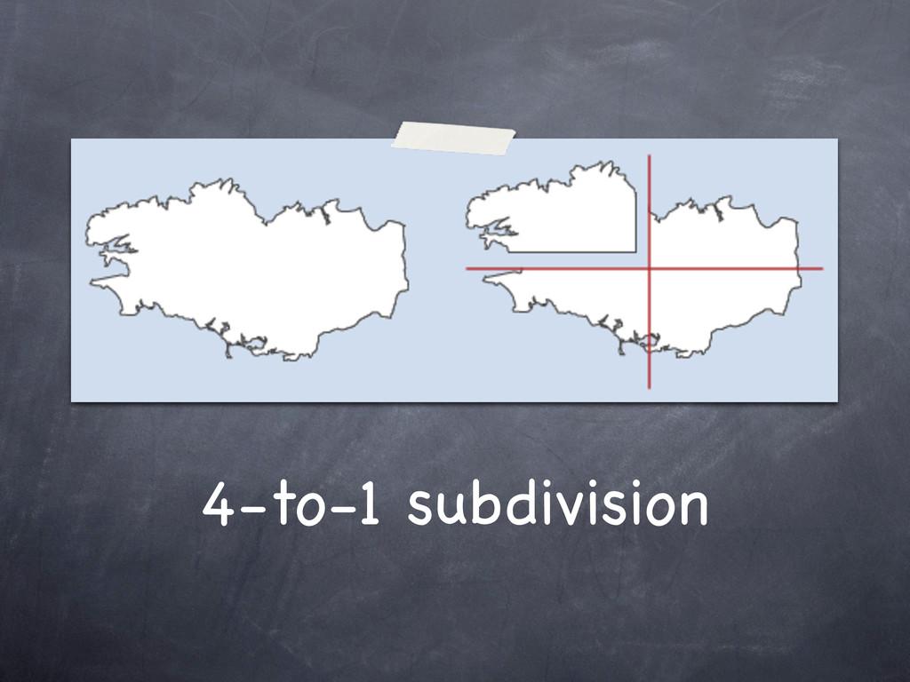 4-to-1 subdivision