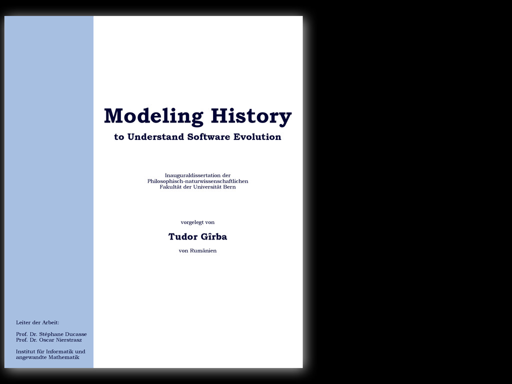 to Understand Software Evolution Modeling Histo...