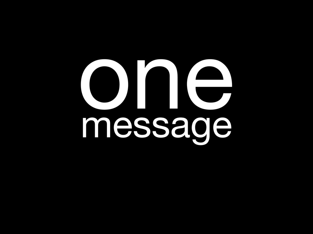 message one