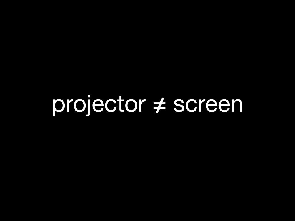 projector = screen